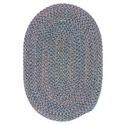 Colonial Mills Woolux Braided Oval 9 x 12 Rug, Blue