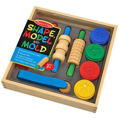 Melissa and Doug Shape, Model and Mold Modeling Clay Kit, Multicolor