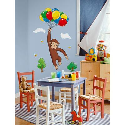 Curious George Wall Decal, Multicolor