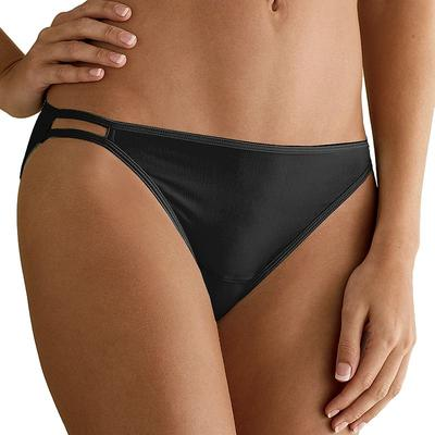 Vanity Fair Illumination String Bikini Panty 18108, Women's, Size: 5, Black