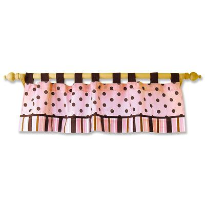 Trend Lab Maya Polka-Dot Striped Window Valance, Multicolor