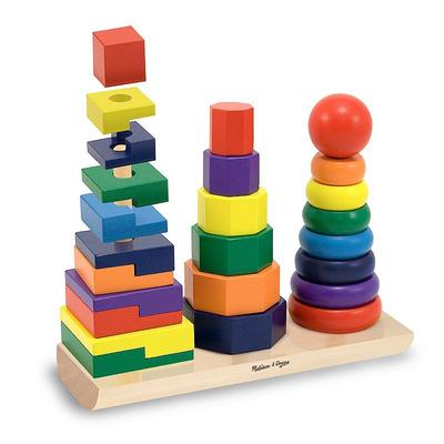 Melissa and Doug Geometric Stacker, Multicolor
