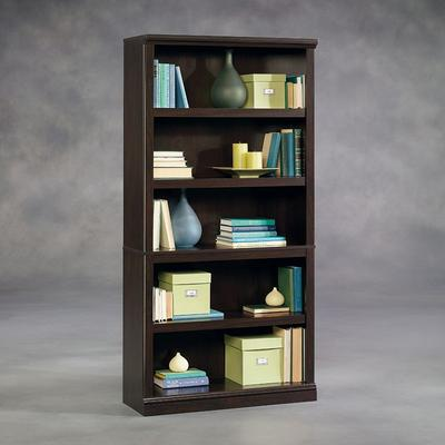 Sauder 5-Shelf Split Bookcase, Brown