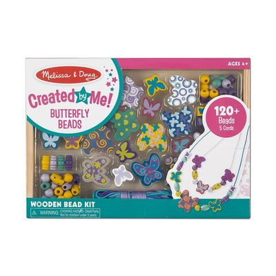 Melissa and Doug Butterfly Friends Wooden Bead Set, Multicolor