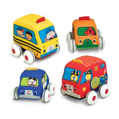 Melissa and Doug K's Kids Pull-Back Vehicles, Multicolor