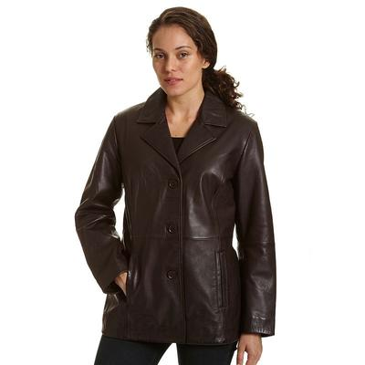 Women's Excelled Leather Jacket, Size: Medium, Brown