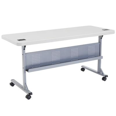 "National Public Seating NPS Mobile Flip Top Table, 24"" x ..."