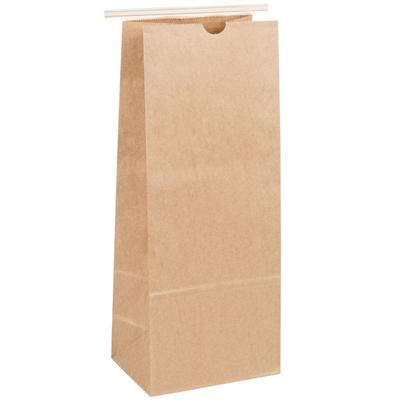 5 lb. Brown Kraft Customizable Paper Coffee Bag with Recl...