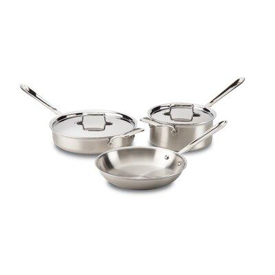 All-Clad D5 Brushed Stainless Steel 5 Piece Pan Set BD005705
