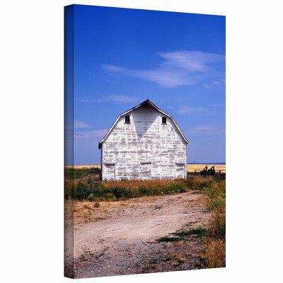 ArtWall 'Old White Barn' Photographic Print on Canvas Kya...