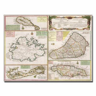 "Trademark Art ""Map of English Colonies in the Caribbean 1..."