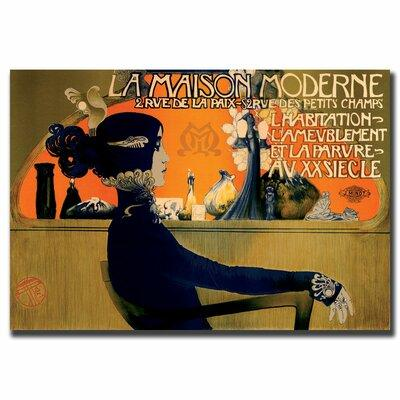 Trademark Art 'La Maison Moderne' Framed Vintage Advertis...