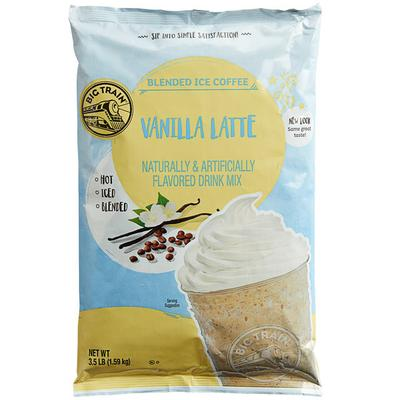 Big Train Vanilla Latte Blended Ice Coffee Mix - 3.5 lb.