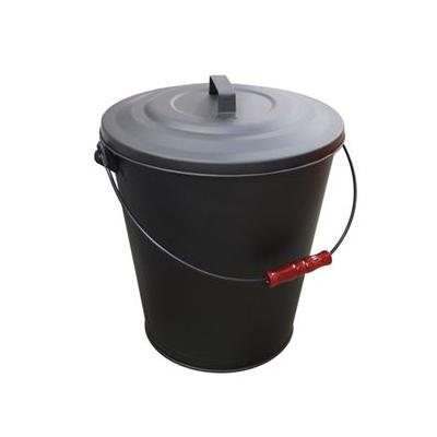 "Ash Bucket W/ Lid 16.5""h X 13.8""d Lawn And Garden"
