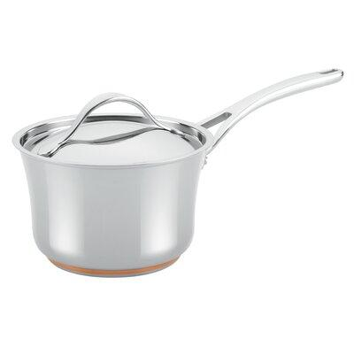 Anolon Nouvelle Copper Stainless Steel 3.5-qt. Covered Sa...