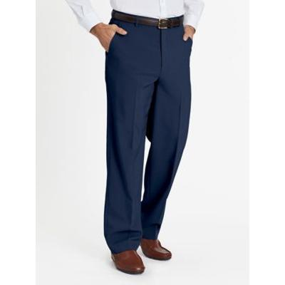 Men's John Blair Plain Front Slacks, Blue Size 46 S