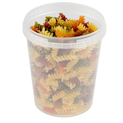 32 oz. Clear Tamper Evident Safe Lock Deli Container with...
