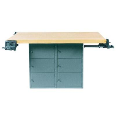 "Diversified Woodcrafts Vise 64""W Wood Top Workbench WB12A..."