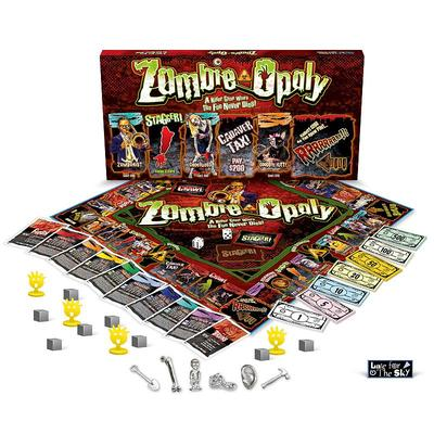 Late for the Sky Zombie-Opoly Board Game, Multicolor