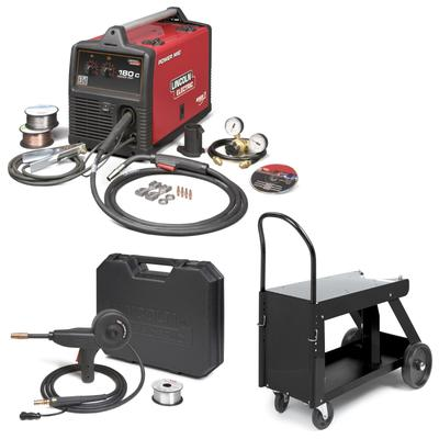 Lincoln Power MIG 180C Package w/ Deluxe Cart K520 & Spoo...