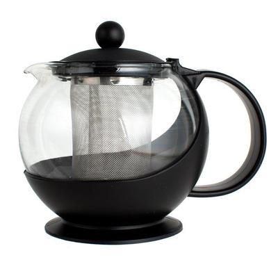 Choice 25 oz. Tempered Glass Tea Pot Infuser with Stainle...