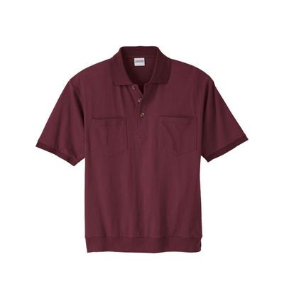 Men's Banded Bottom Perfect Polo by Haband, Burgundy Size...