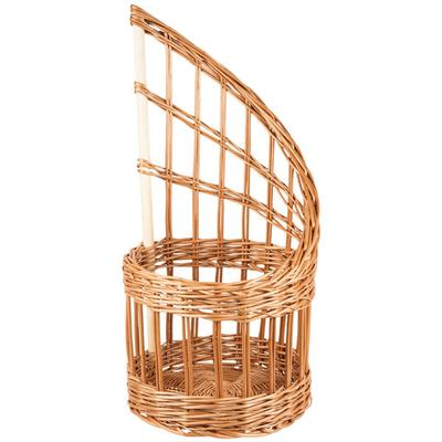 "Matfer Bourgeat 573421 11"" Round Wicker Bread Basket"