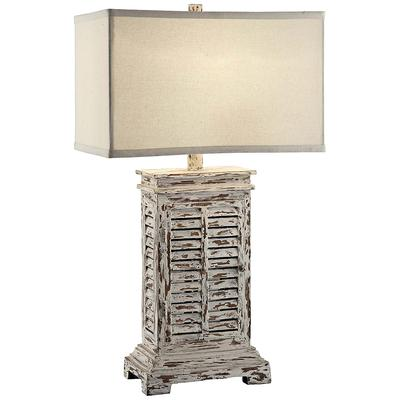 Crestview Collection Antique Shutter Table Lamp