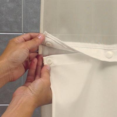 Hookless HBH53DTB05CRX Beige Double H Shower Curtain with...