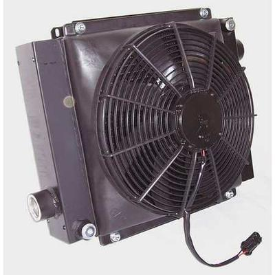 COOL-LINE D36-12 Oil Cooler, 12 VDC, 8-80 GPM, 0.48 HP