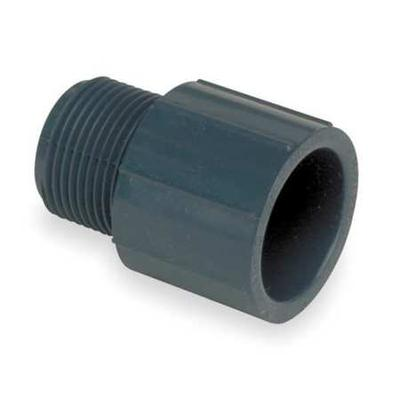 "GF Piping Systems 2"" MNPT x Socket PVC Male Adapter Sched..."