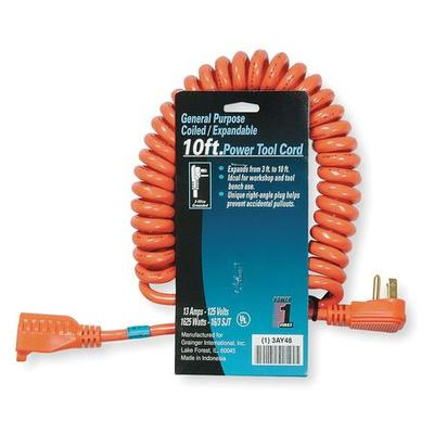 Power First 10 ft. 16/3 Extension Cord SJT, 3AY48