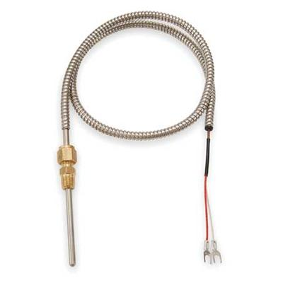 Tempco TCP60089 Thermocouple Probe,Type J,Length 4 In