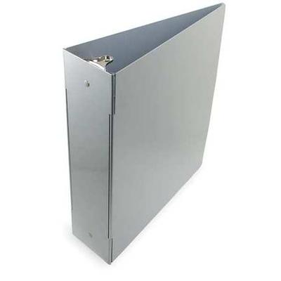 Binders contain file folders or ring clip systems that hold the paper. Saunders 3-Ring Binder include characteristics like: Material: Aluminum, Color: Silver.