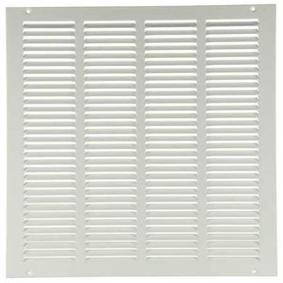 VALUE BRAND 4MJP2 Return Air Grille, 24x24 In, White