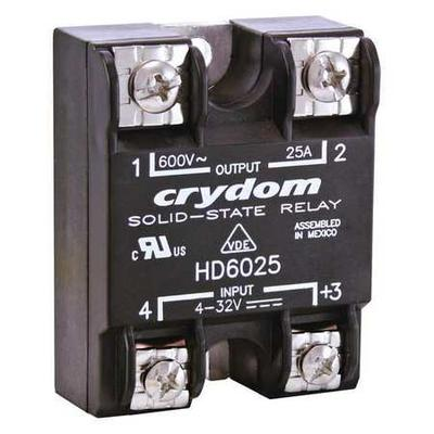Solid State Relay,4 to 32VDC,25A CRYDOM HD4825