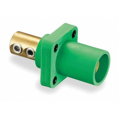 Receptacle,Double Set Screw,Green HUBBELL WIRING DEVICE-K...