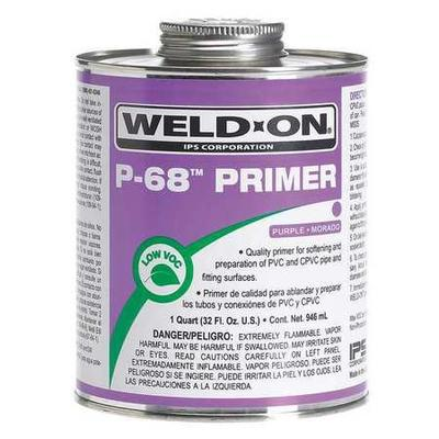 Weld On 13993 Primer, Purple, 8 Oz, PVC and CPVC