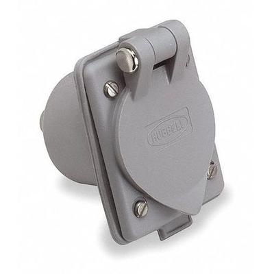Hubbell WIRING DEVICE-KELLEMS HBL61CM64 Flanged Inlet,15A...
