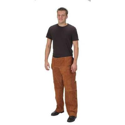"Condor Welding Chaps, Brown, Leather, 29"" Long, 4KXH6"
