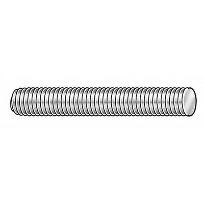 VALUE BRAND 4REF6 Threaded Stud, 304 SS, 3/8-16x2, PK10