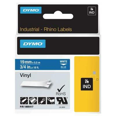 DYMO 1805417 Label Cartridge,White/Blue,18 ft. L