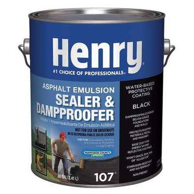 HENRY HE107GR046 Sealer and Dampproofer, .9 gal., Black