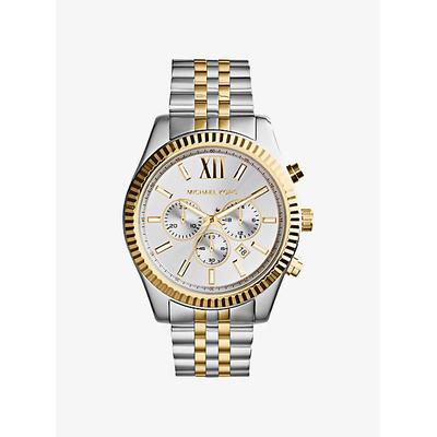 Michael Kors Lexington Two-Tone Watch Silver ONE SIZE