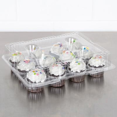 Polar Pak 9513 12 Compartment Clear Hinged PET Cupcake Ta...