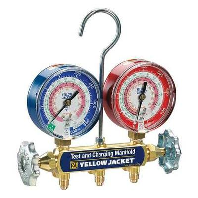 Yellow Jacket 42001 Mechanical Manifold Gauge Set, 2-Valve