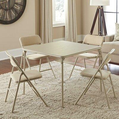 Cosco Home and Office 5 Piece Square Folding Set 14551W C...