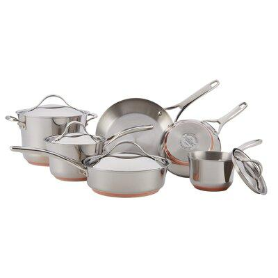 Anolon Nouvelle Copper Stainless Steel 10 Piece Cookware ...