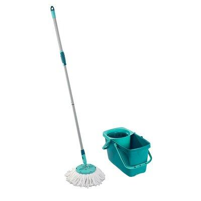 Leifheit Clean Twist Mop Set with Mop and Spin Bucket 52019
