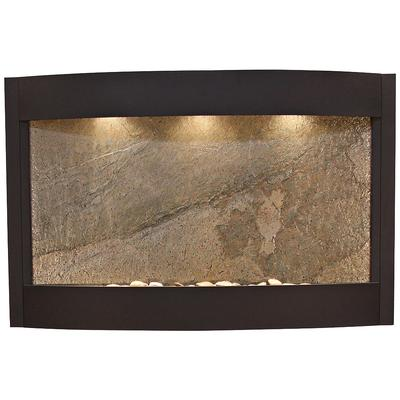 "ADAGIO Calming Waters Green Stone Textured Black 35""H Wal..."